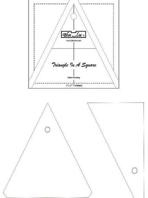 """Bloc Loc Triangle in a Square Ruler - 3"""" x 3"""""""