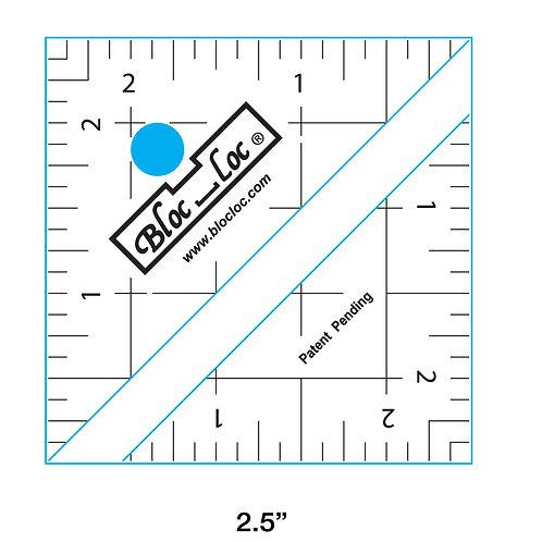 """Bloc Loc Half Square Triangle Ruler - 2.5"""""""