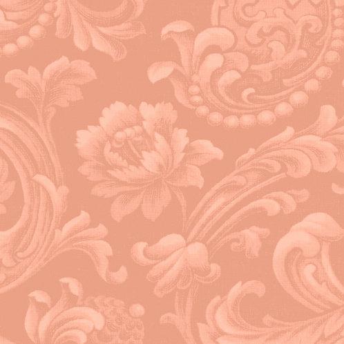 Faux Brocade - PEACH FLORAL