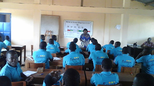 "formation à l'ONG ""Bouge"" à Sékou"