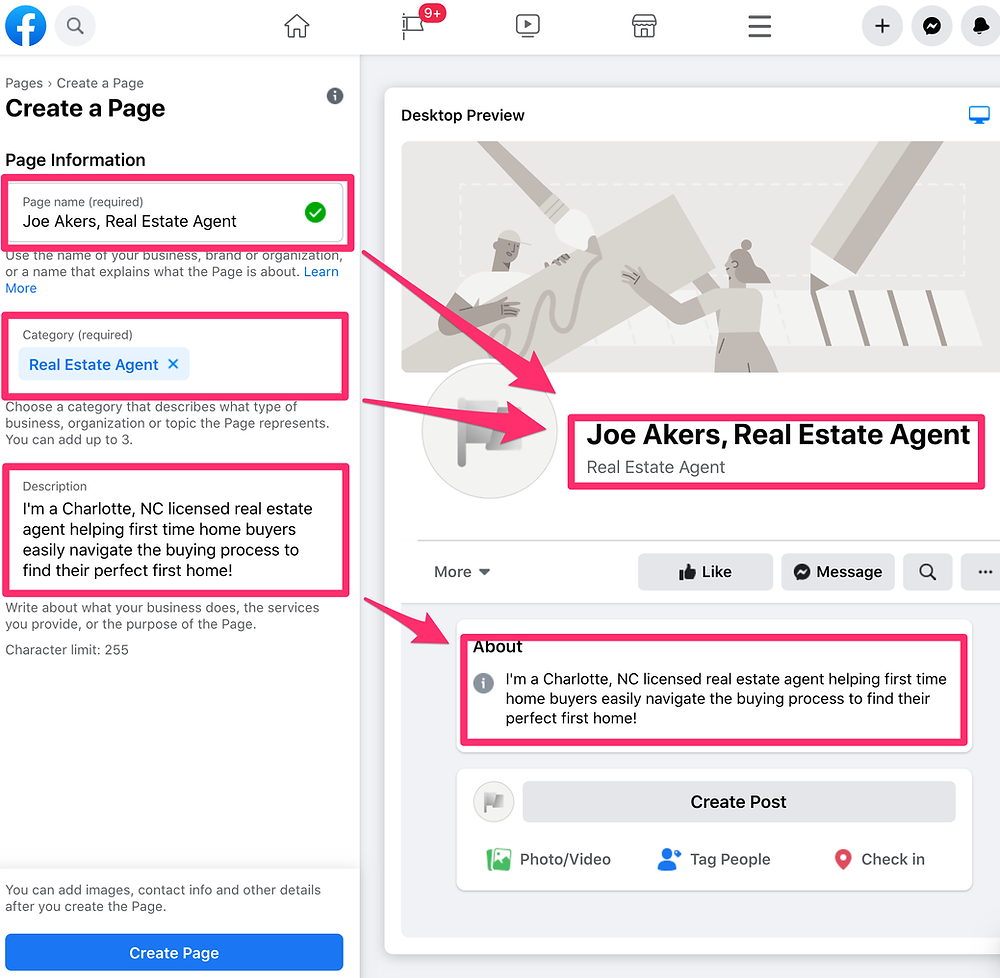 Adding specific details to your facebook business page information.