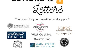 Thank you for your support of our Letters & Lotions project!