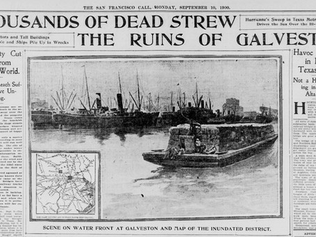 Galveston Hurricane 9/8/1900