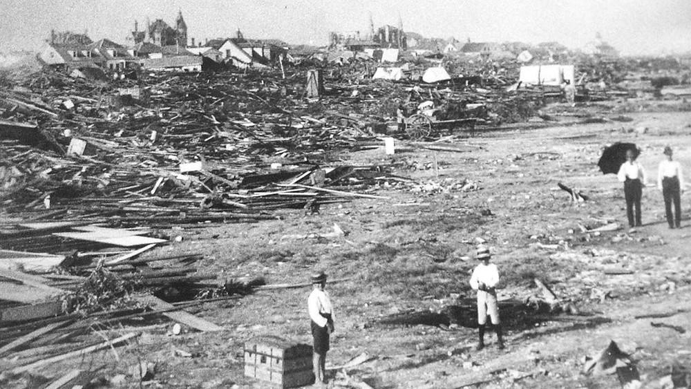 Galveston after the hurricane
