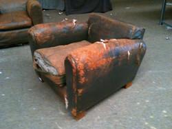 fauteuil Royere avant restauration