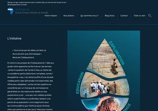 Refonte du site More Water For Sahel