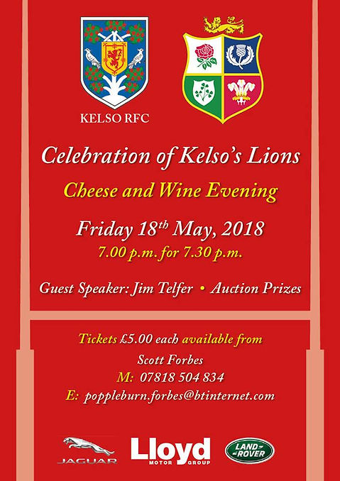 SOLD OUT - Ex-Kelso Lion's Night (Questions) | kelsorfc