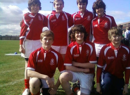 KHS S2 2009/10 season Plate winners at Dunbar 7s tournament.