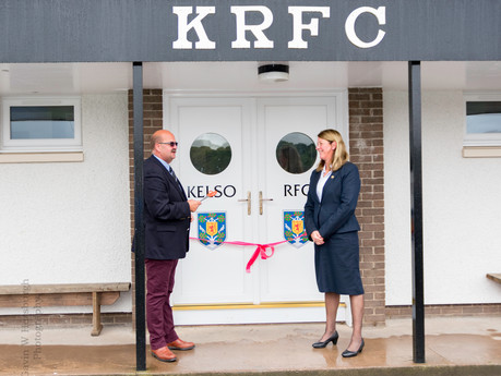 The Official Opening of Kelso RFC Changing Suite