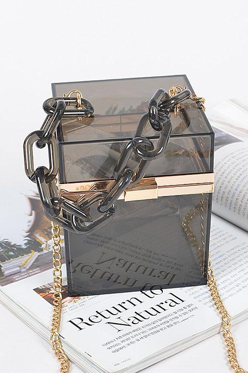 Clear Gift Box Clutch
