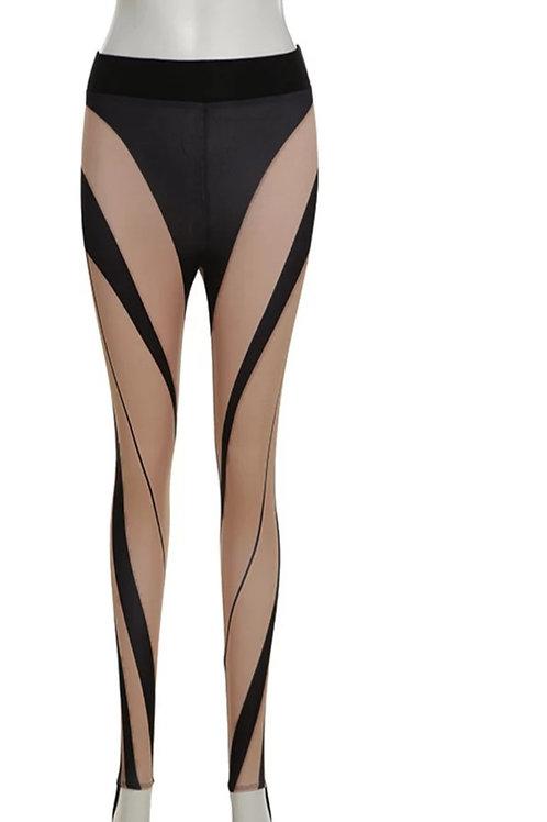 Fashion Black/Beige Leggings