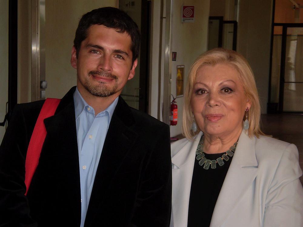 Mirella Freni junto a Joel Poblete