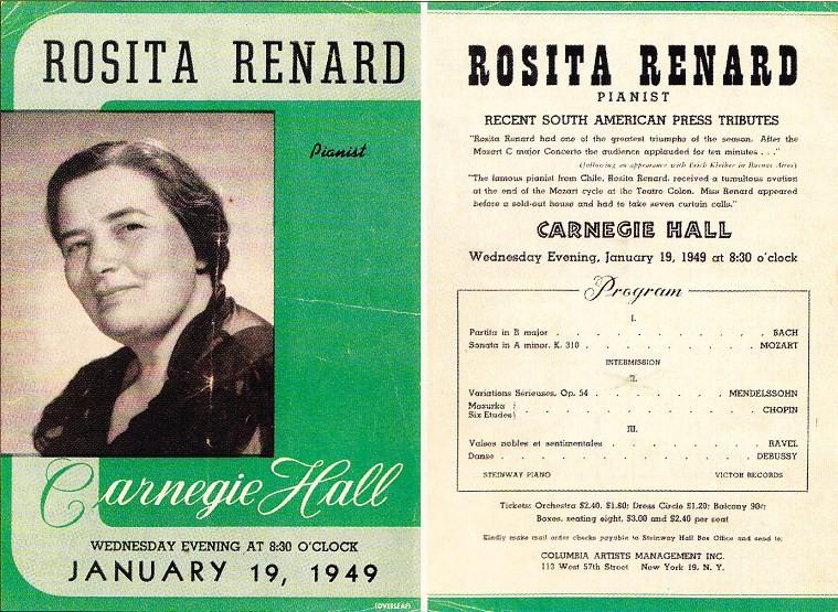 Programa Carnegie Hall, 1949