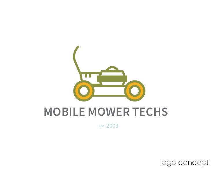Mobile Mower Techs Logo Concept