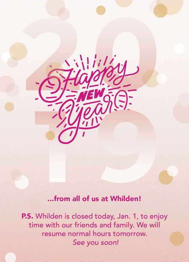 Whilden New Year Social Media Post