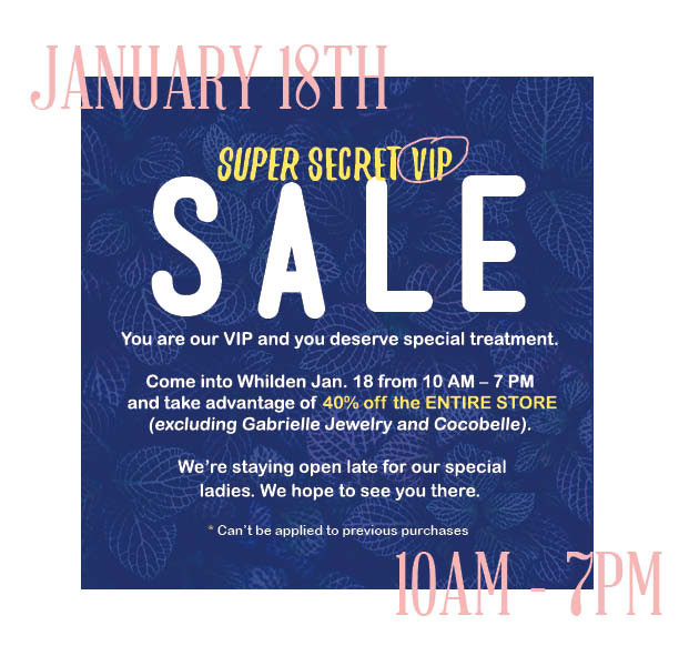 Whilden VIP Sale