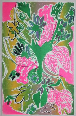 Bayou Bouquet Green Pink
