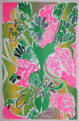 Bayou Bouquet Green Pink