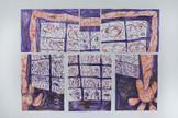 Erin Miller, Daisy Twin, 55 x 76 inches, monoprints, 2021, $2,000.jpeg