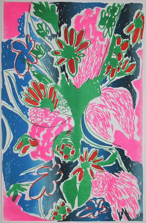 Bayou Bouquet Blue-Pink