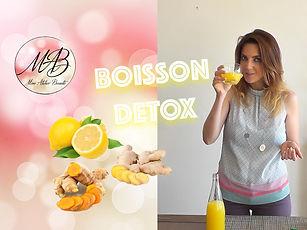 Boisson détox - Citron, gingenbre, curcuma Mon Atelier Beauté