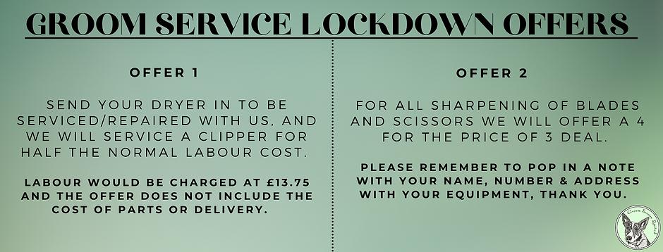 Groom Service Lockdown Offers