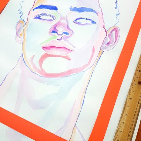 Boy orange Frame