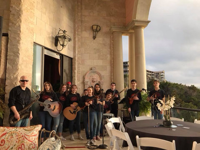 Performing with the Lake Travis Fiddlers on Lake Travis (Austin, TX)