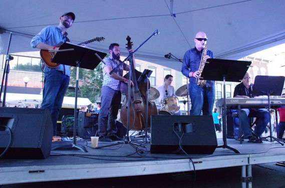 Performing at the Iowa City Jazz Festival