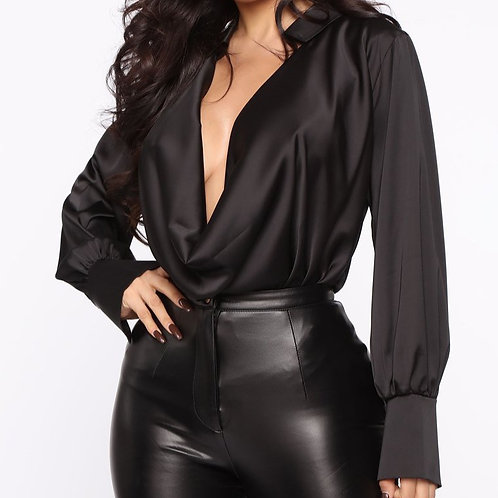 FashionNova. Touch By Touch Satin Top