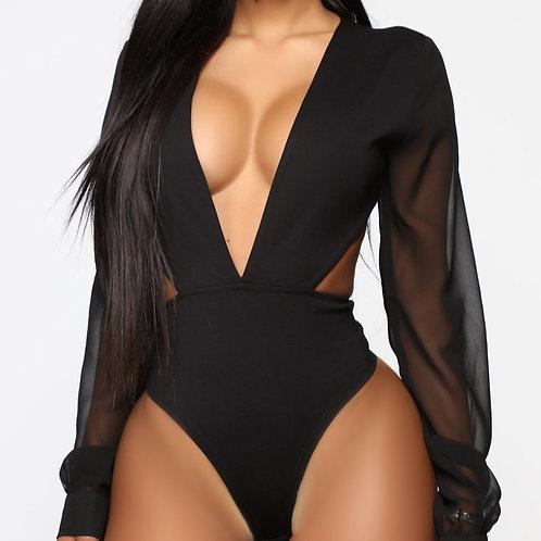 FashionNova Making Decisions Bodysuit - Black