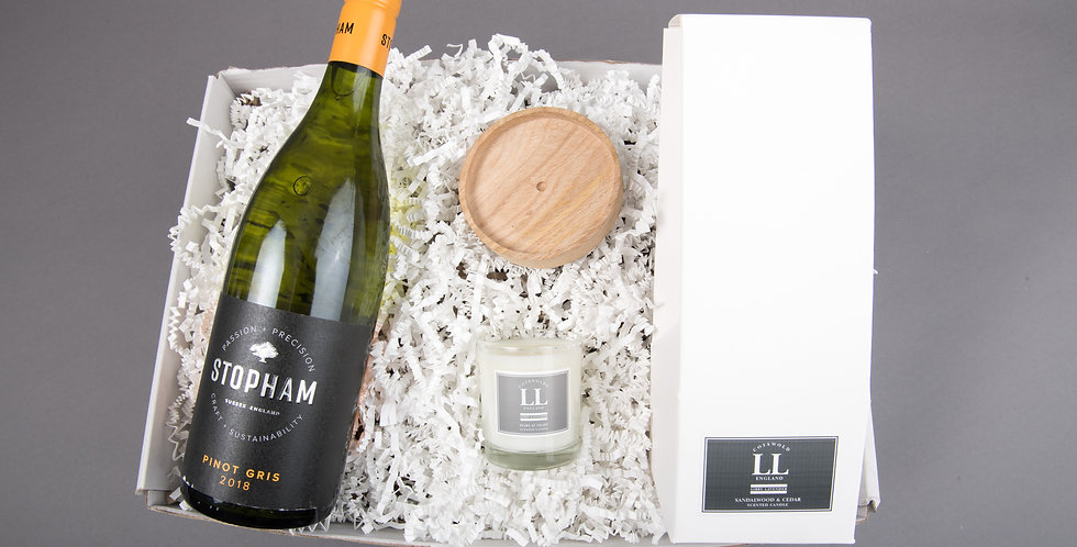 Stopham Estate Pinot Gris and diffuser gift set