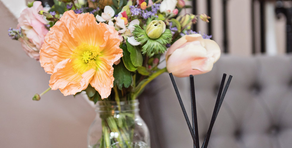 Cheltenham Only Flowers and candle - 'Friday delivery'
