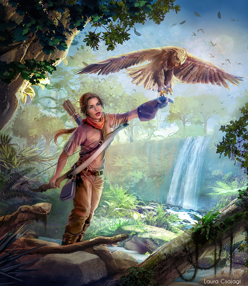 Lady falconer