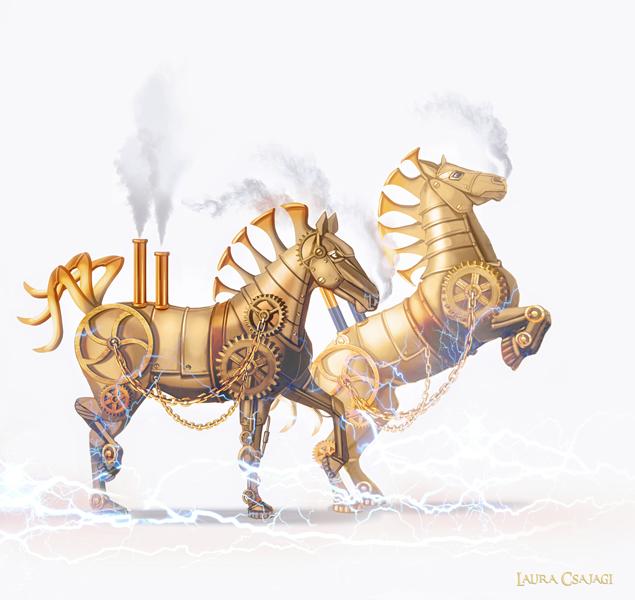 Cendrillon chevaux mecaniques