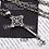Thumbnail: Silver hollow-out flower cross pendant sterling silver 925