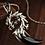 Thumbnail: Silver dragon head balck agate moon pendant sterling silver 925