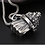 Thumbnail: Fist fashion pendant sterling silver 925 western style