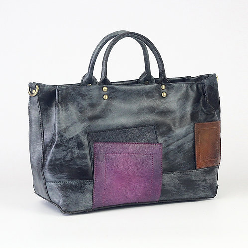 Creative design handmade cow leather retro style leather bag