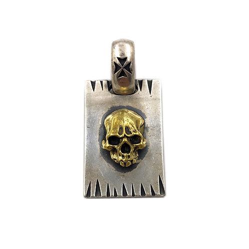 Gabor gold skull pendant sterling silver 925