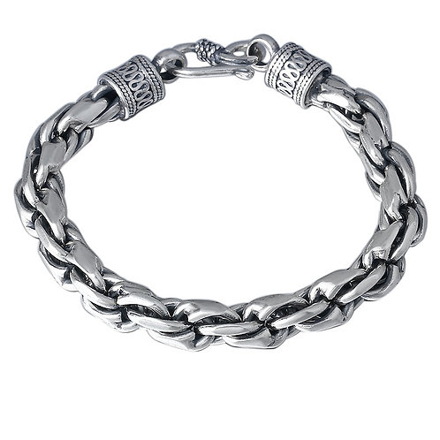 Fashion classic silver hemp rope bracelet sterling silver 925