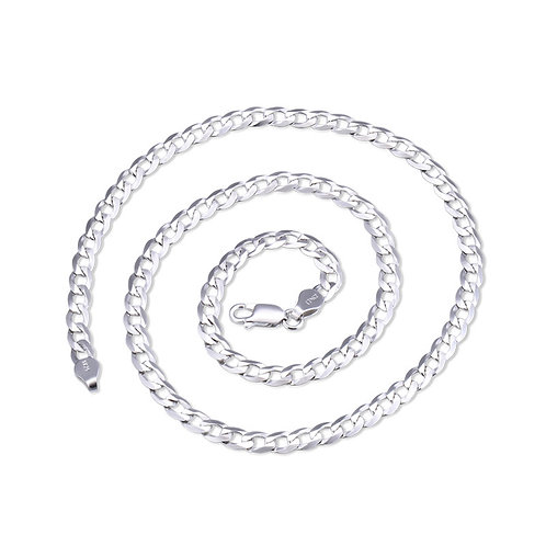 Cuban chains necklace sterling silver 925