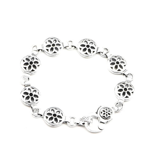 Korean style fashion hollow-out retro bracelet sterling silver 925