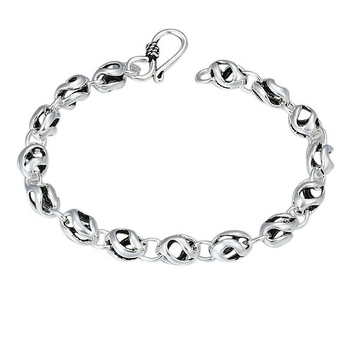 Silver hollow-out circle fashion design bracelet sterling silver 925