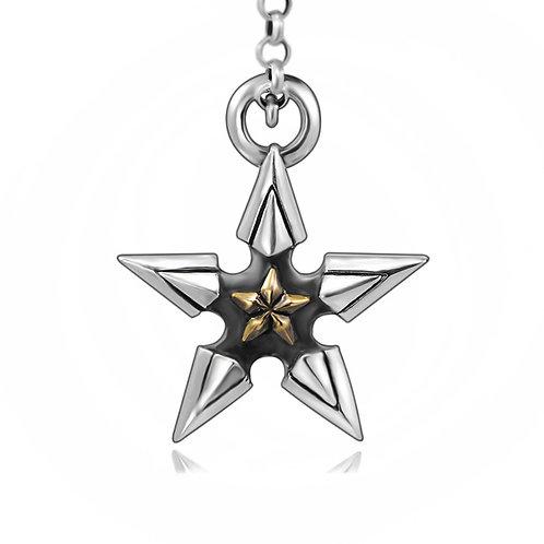 Fashion design pentagram star pendant sterling silver 925