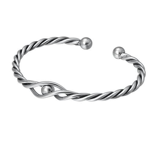 Fashion creative design knit round bead bracelet sterling silver 925