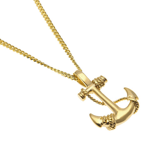 Western hip-hop style cross stainless steel 316L necklace
