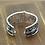 Thumbnail: Unique design punk style hollow-out cross bracelet sterling silver 925