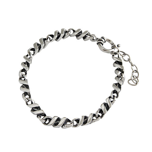 Retro unique design simple style bracelet sterling silver 925