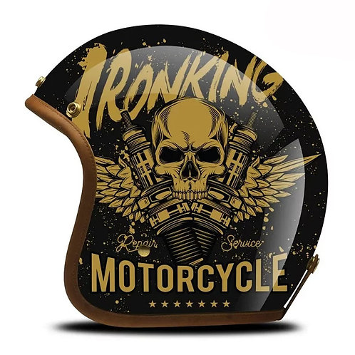 Superior Quality Hand-Painting Glass Fiber Customize Motrocycle Helmet